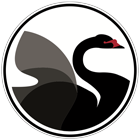 Black Swan Bar logo sign